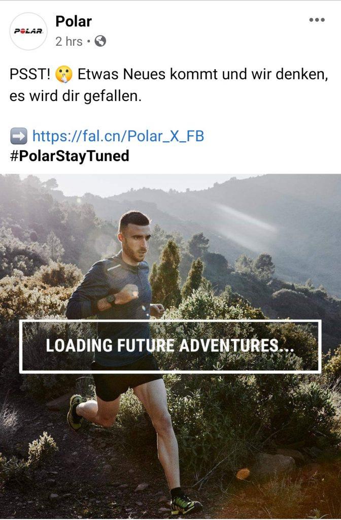 Polar Ankündigung auf Facebook