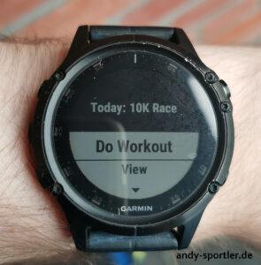 Workout starten